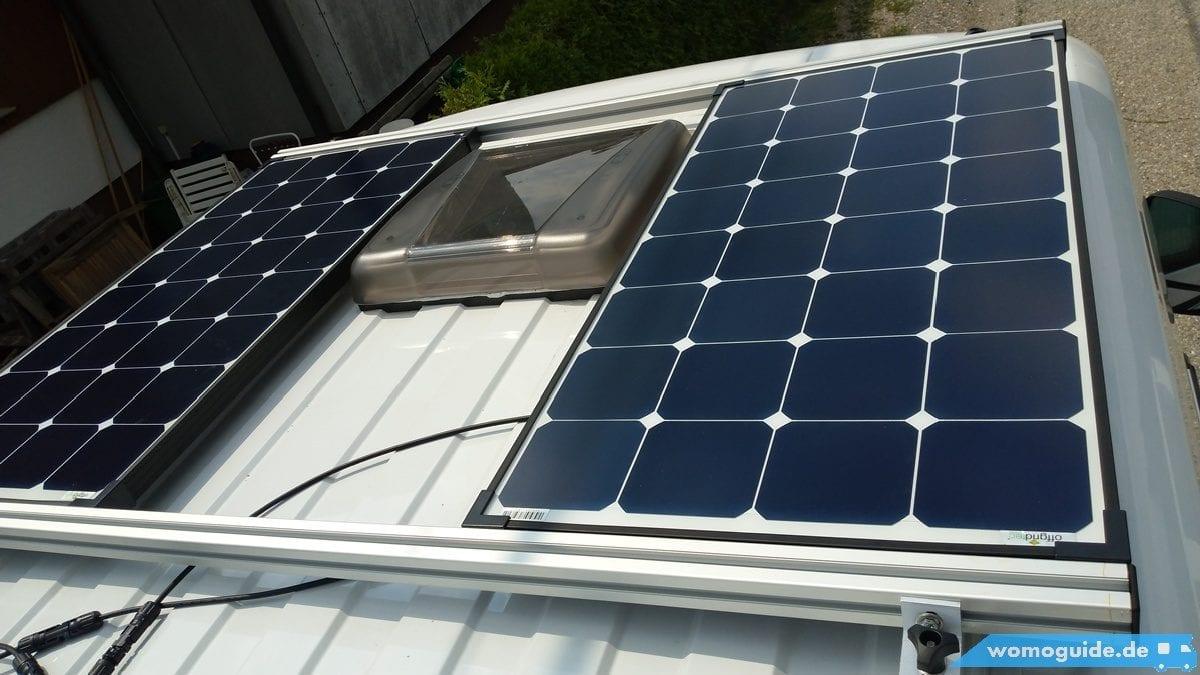 Solaranlage am Wohnmobil nachrüsten: Montage am Dach