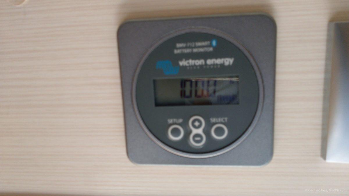 Victron Batteriecomputer: Anzeige des Ladezustands der Wohnmobil-Batterien