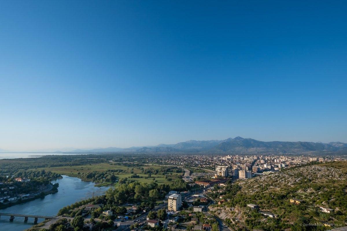 Ausblick von Rozafa Castle, Shkodra