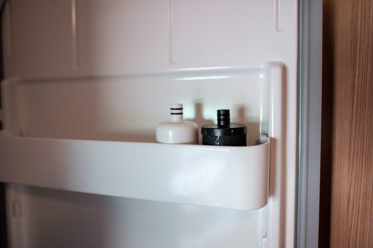 Wasserfilter fürs Wohnmobil im Kühlschrank lagern: Geringer Platzbedarf